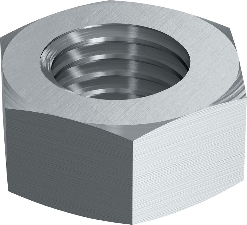 Stainless steel (A4) hexagon nut corresponding to DIN 934
